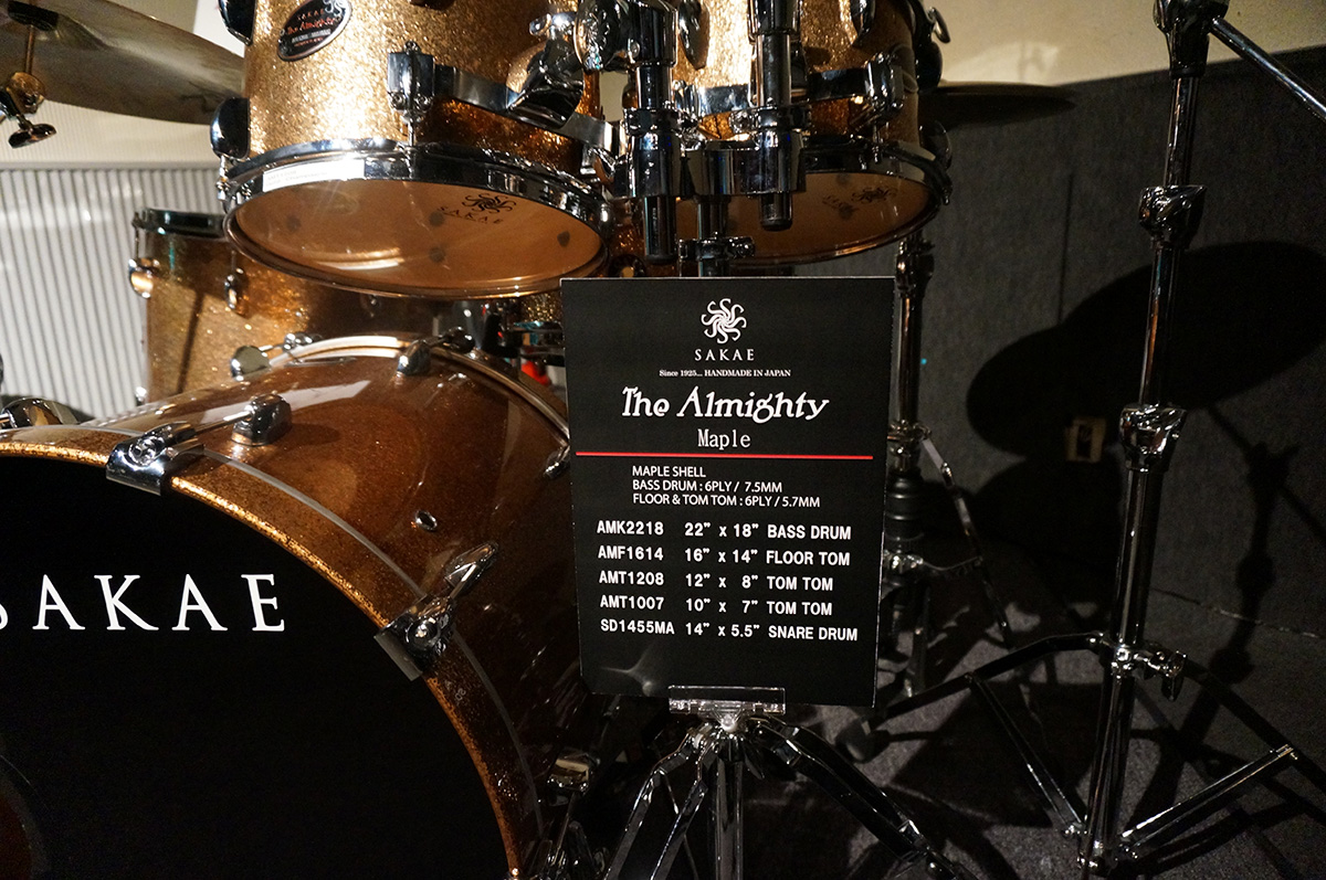 Feel the SAKAE 会場内 ドラムセット Almighty maple,birch